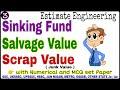 #E3 Sinking Fund | Salvage Value | Scrap Value | Junk Value | Estimate Engineering | SSC , UPSSSC ..