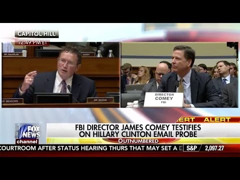 Rep Massie Questions FBI Director Comey about Clinton Emails 7/7/16
