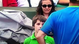 Tennis Ball Boy Really Bad Mistake Murray Troicki tennis Match
