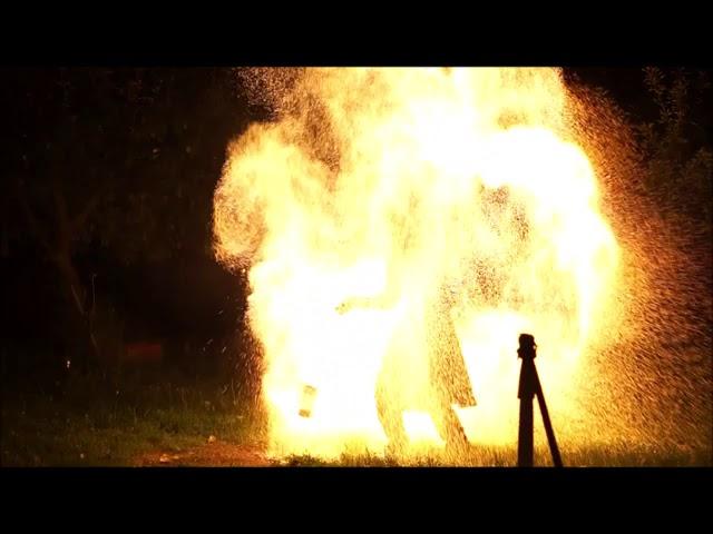 Feuershow zur Silberhochzeit auf Rittergut Positz