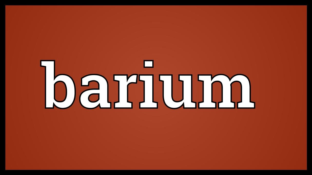 Barium meaning youtube barium meaning biocorpaavc Images