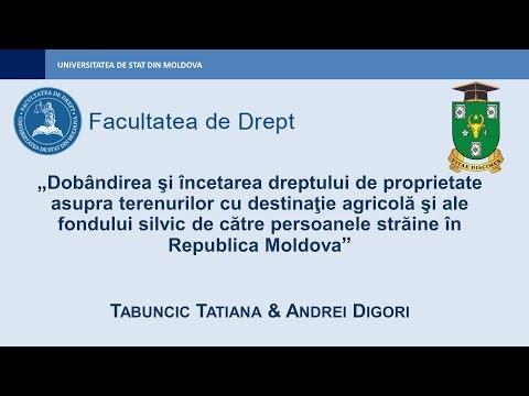 Tatiana Tabuncic — Proprietatea asupra terenurilor cu destinaţie agricolă