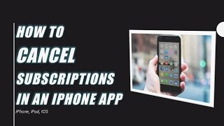 How to cancel subscriptions on an iPhone or iPad (IOS) - get rid of unwanted, recurring payments thumbnail
