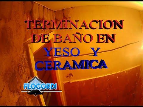 |Terminación de baño en YESO y  CERÁMICAS