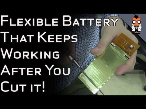 Flexible Battery Technology for Future Smart Watches & Other Devices