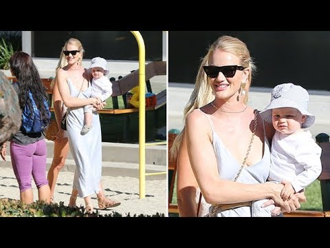 EXCLUSIVE - Rosie Huntington-Whiteley And Jack, Son Of Action Star Jason Statham, In Malibu