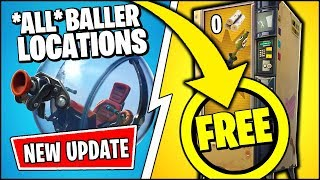 *NEU* Fortnite UPDATE | * FREE* VENDING MACHINES & *ALL* LOCATIONS OF THE BALLER (Patch Notes v8.10)