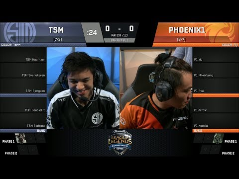 TSM vs P1, Game 1 - 2017 NA LCS Summer Week 6 - Team SoloMid vs Phoenix 1