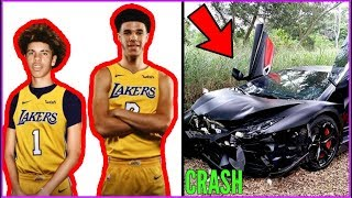 How LaMelo Ball just RUINED HIS LIFE AND CAREER!! LaMelo crashes LAMBO!! thumbnail