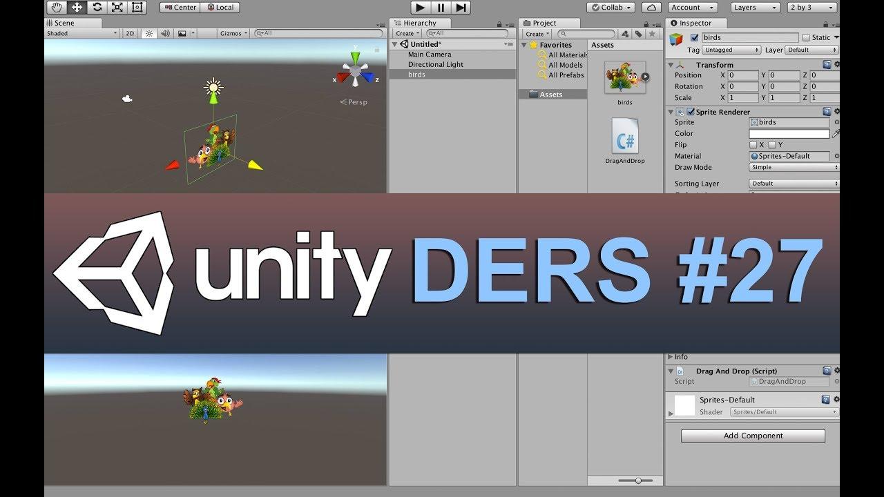 Unity 27 Ders - Drag And Drop (Sürükle Bırak) yöntemi