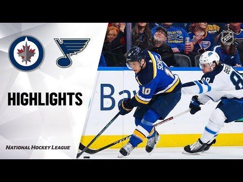 NHL Highlights | Jets @ Blues 12/29/19