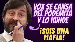 VOX SE HARTA de las TONTERÍAS del PODEMITA Rafa Mayoral ¡Y LO FUNDE POR LOS DISTURBIOS DE VALLECAS!