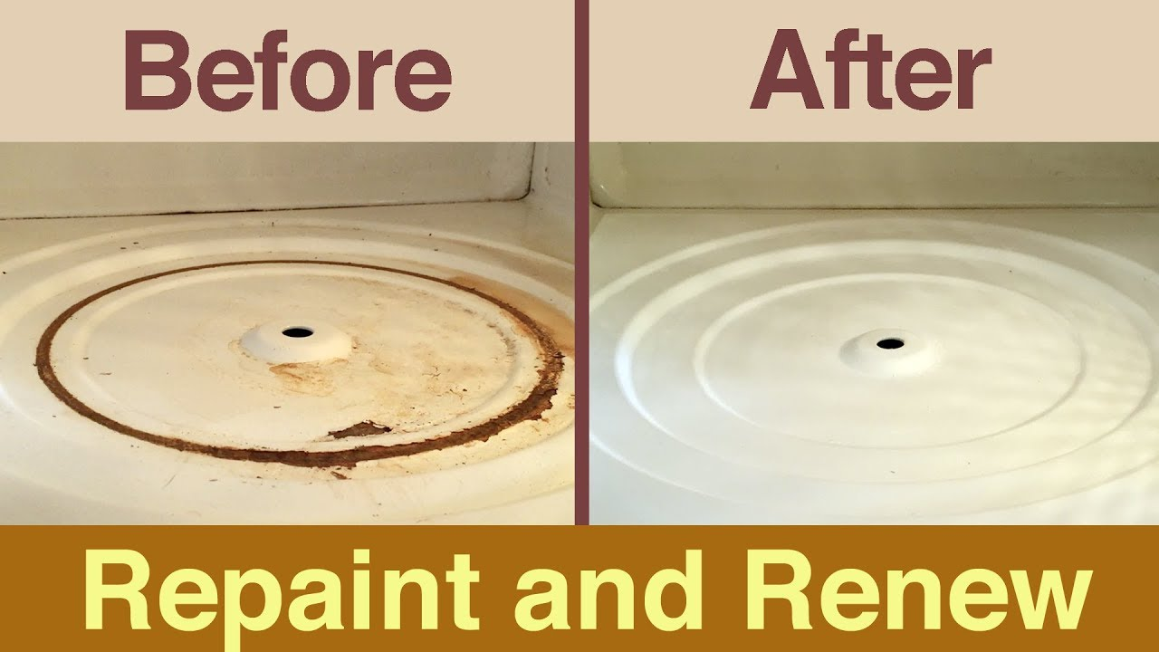 How To Repaint Inside Your Microwave Fix Interior Rust And Ling
