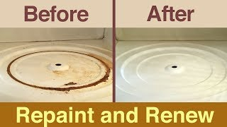 how to repaint inside your microwave fix interior rust and peeling