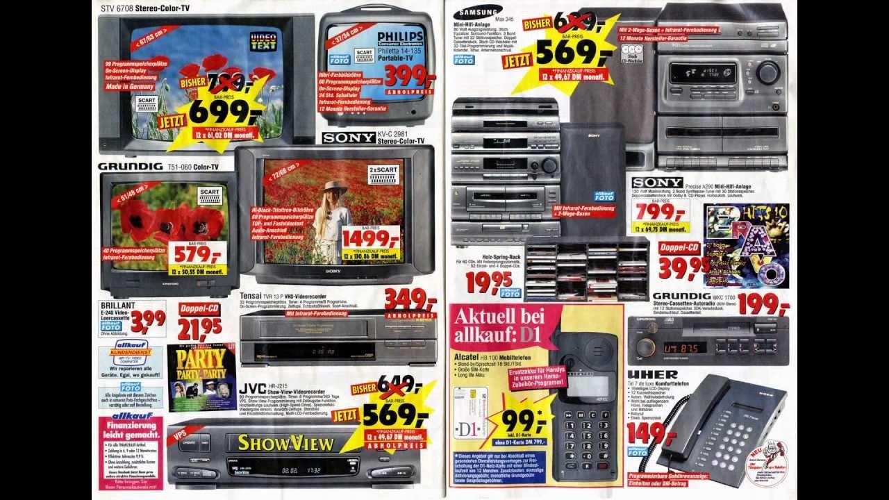 allkauf juni 1995 discount prospekt beilage preise in d mark dm dem youtube. Black Bedroom Furniture Sets. Home Design Ideas