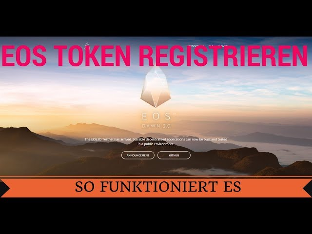 EOS Token Registrierung - So funktioniert es!