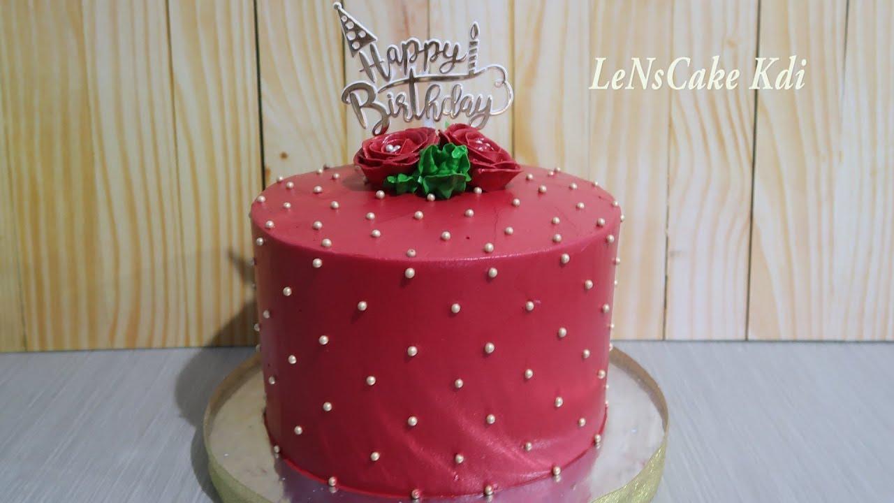 Birthday Cake Unique Simple Elegant
