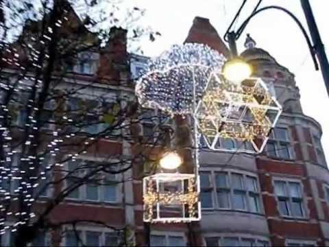 London Xmas lights and... Happy Birthday, Shirley!