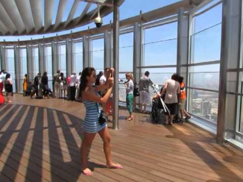 Outside Observation Deck Of The Burj Khalifa Tower In Dubai Youtube
