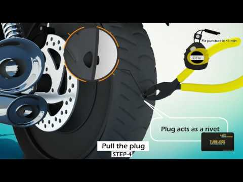Tubeless Tyre Puncture and Inflation Solution by GrandPitStop