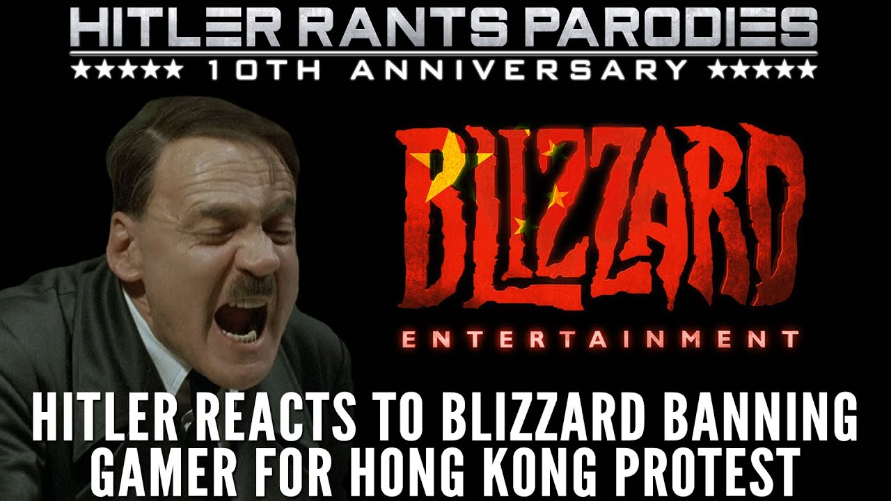 Hitler reacts to Blizzard banning Hearthstone gamer for Hong Kong protest