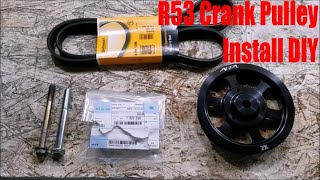 homepage tile video photo for R53 Mini Cooper S Alta 2% Overdrive Pulley Install