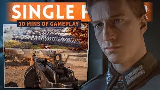 10 MINUTES OF SINGLE PLAYER GAMEPLAY! - Battlefield 5 War Stories First Look (New Weapons Footage!)