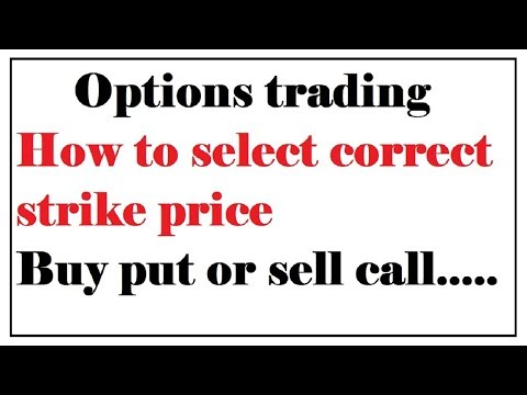 how to select strike price in options