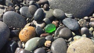 Sea Glass Hunting on Ediz Hook, Port Angeles, WA