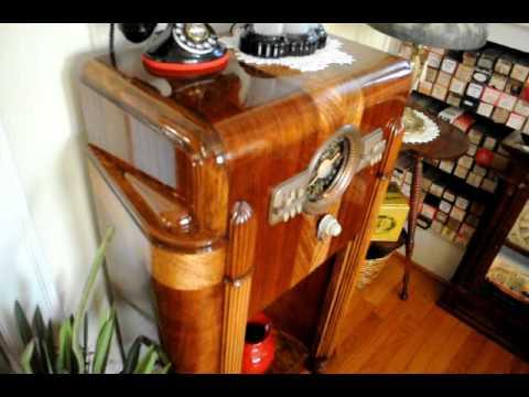 1940 Zenith 10 S 470 Console Radio Youtube