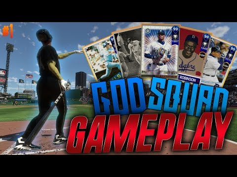 ALL 99 LINEUP GOD SQUAD DEBUT GAMEPLAY! HIGH SCORING SLUGFEST WITH ALL DIAMOND TEAM!