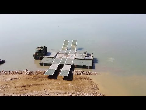 China's latest amphibious bridging vehicle completes first exercise