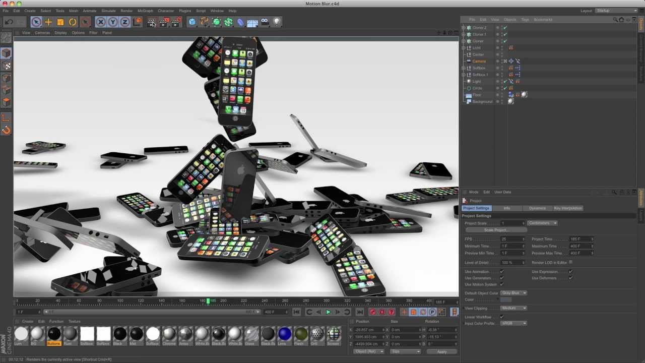 How to create motion blur in Cinema 4D