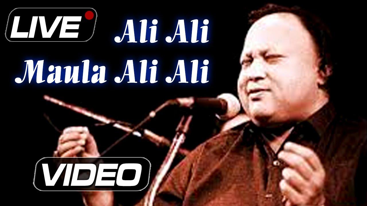 Nusrat Fateh Ali Khan : Ali Ali Maula Ali Ali   Live Concert   Popular  Qawwali   Ibaadat