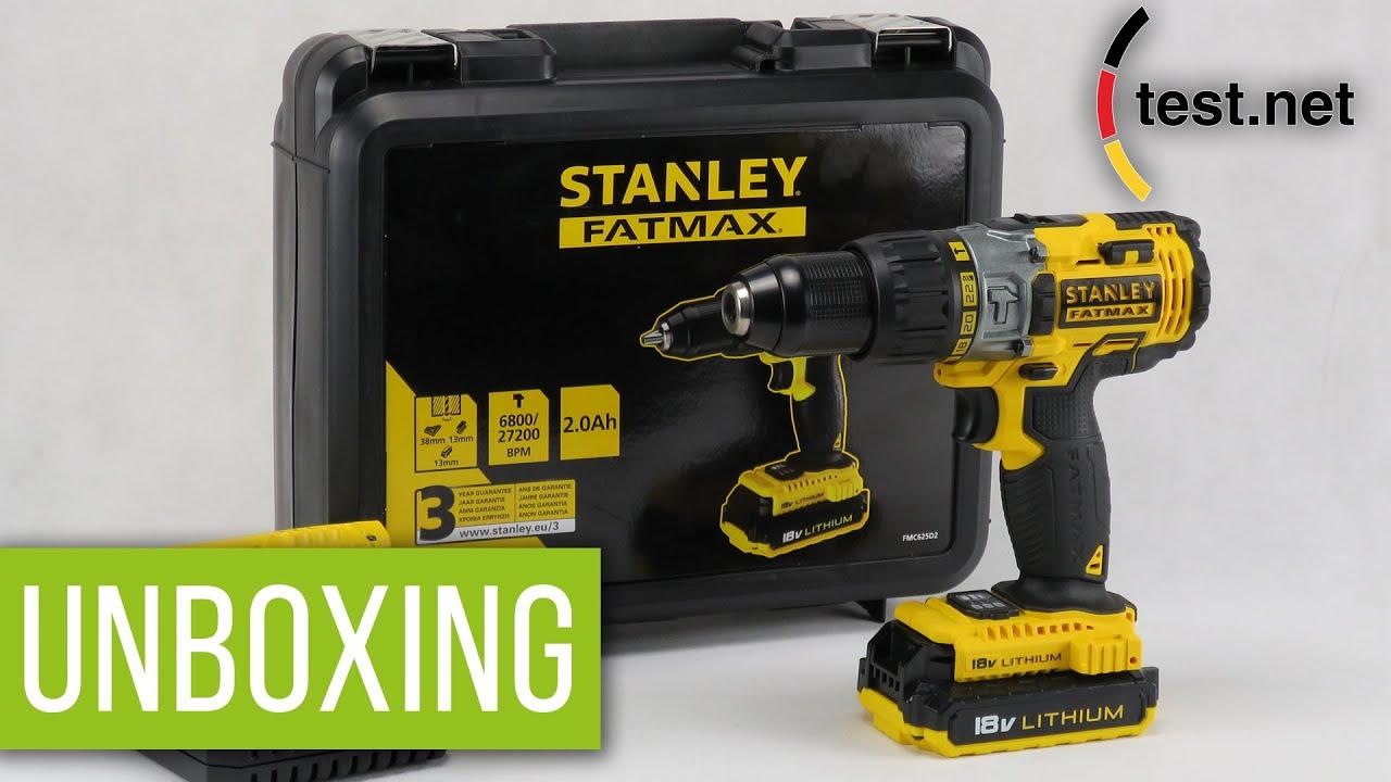 stanley fatmax 18 v schlagbohrmaschine unboxing test. Black Bedroom Furniture Sets. Home Design Ideas