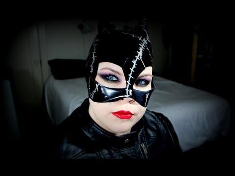 HALLOWEEN: Catwoman Makeup Tutorial - YouTube