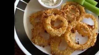 Krispy Baked Onion Rings Recipe หอมใหญ่อบกรอบ