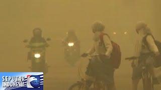 Sekolah di Palangkaraya di liburkan karena kabut asap [Sindo Sore] [19 Okt 2015]