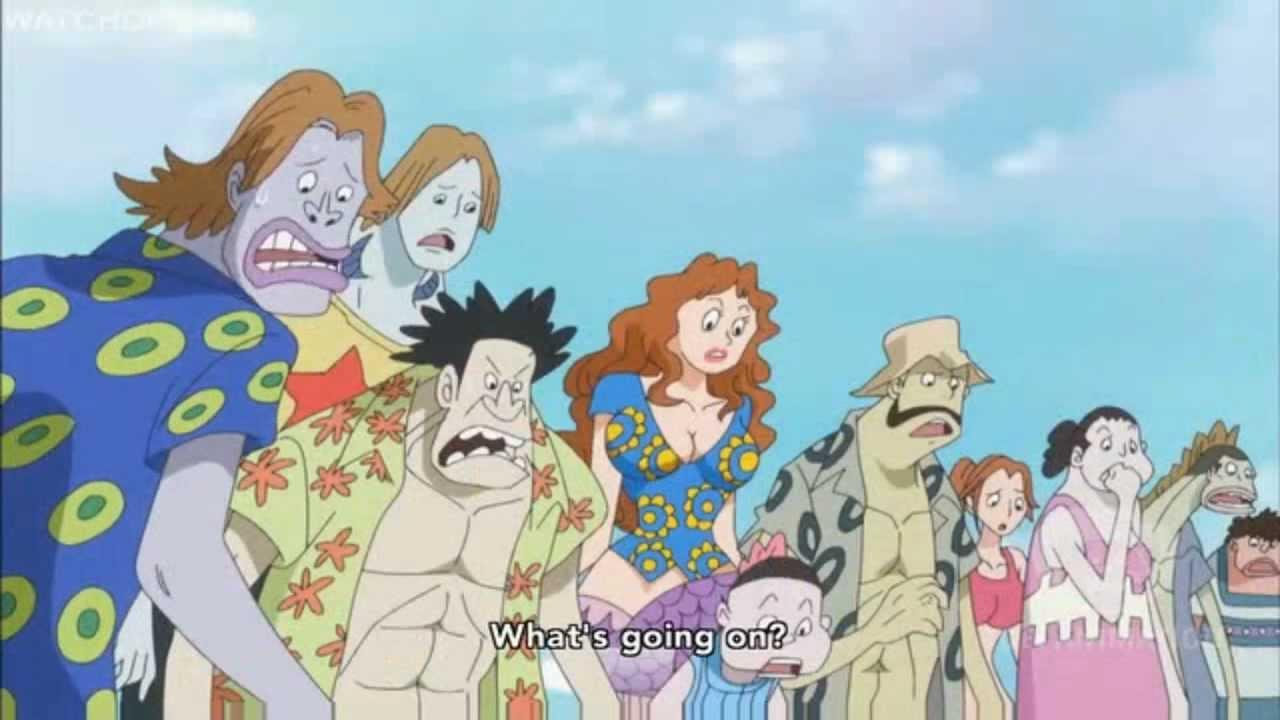 One Piece - Luffy uses Haki on Fishman Island - YouTube