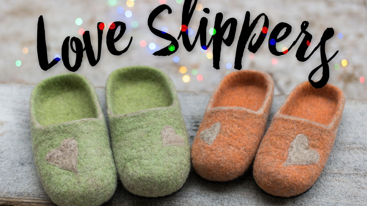 love slippers womens mens house shoes felted wool slippers with