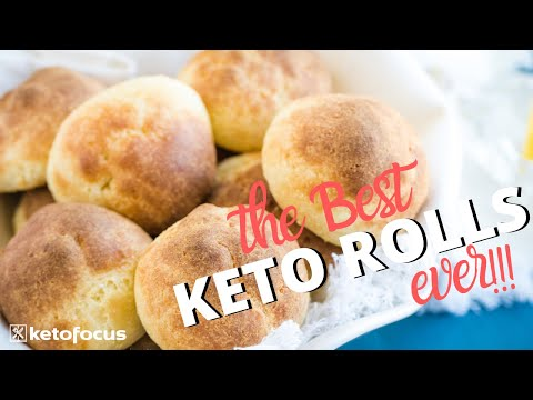 THIS SECRET INGREDIENT MAKES THE BEST KETO ROLLS | Gluten Free, Fluffy & Delicious!