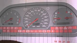 Volvo S40 V40 SRS Airbag Warning Light - How To Turn Off