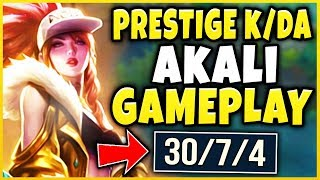PRESTIGE K/DA AKALI IS ACTUALLY UNREAL! (4V5 AFK CARRY) NEW LEGENDARY SKIN! - League of Legends