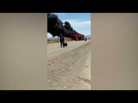 Se incendió un colectivo en la Puna jujeña con 40 pasajeros