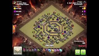 Clash of clans TH9 war attack⭐️3star⭐️2018⭐️dragon-minilalo !