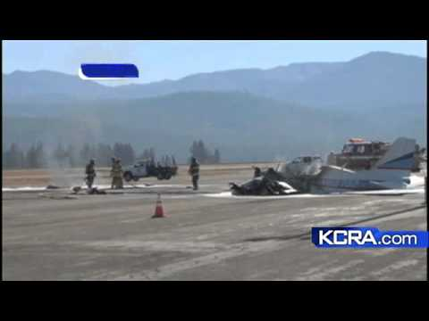 Plane Crashes At Truckee Tahoe Airport