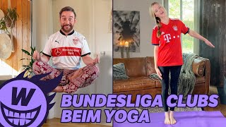 Bundesliga Clubs beim Yoga