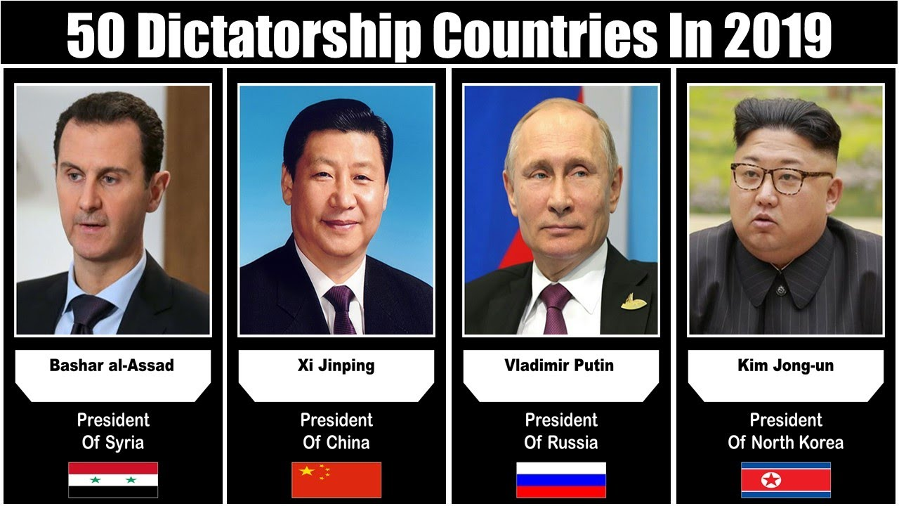 Dictatorship Countries And Their Leaders | Countries Ruled by ...