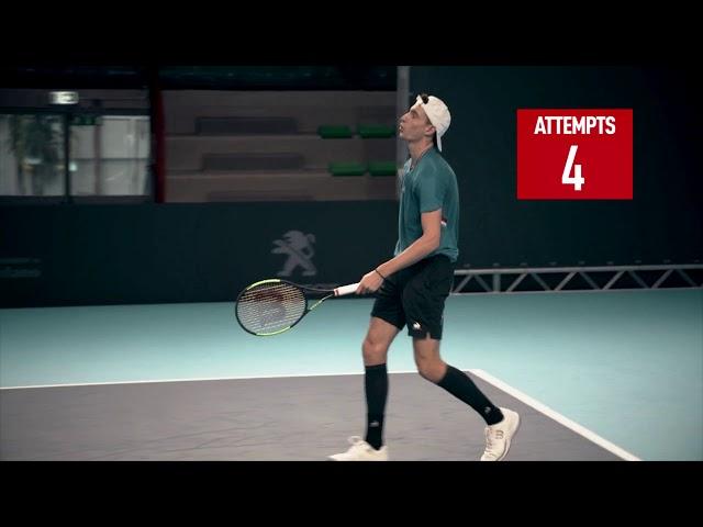 Humbert Takes Next Gen Serve Challenge | Next Gen ATP Finals