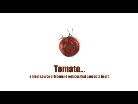 02 Risk of HEART disease and several cancers, TOMATO a great source of lycopene reduces the risk